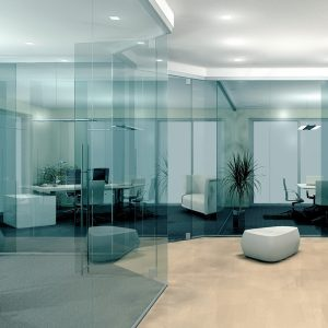 All-glass partition wall